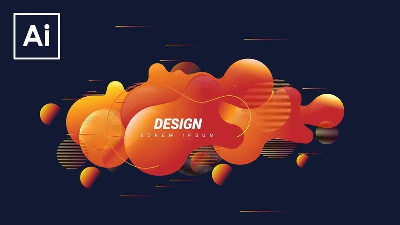 Create Shape Abstract Liquid   Adobe Illustrator Tutorial