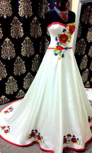 свадебные платья вышиванки