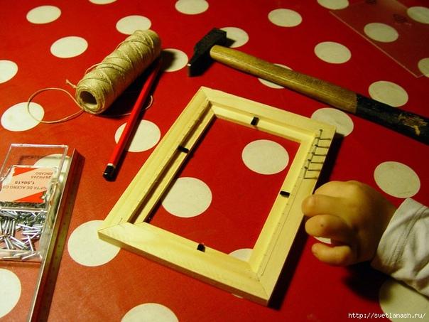Как сделать домашний маленький ткацкий станок.
