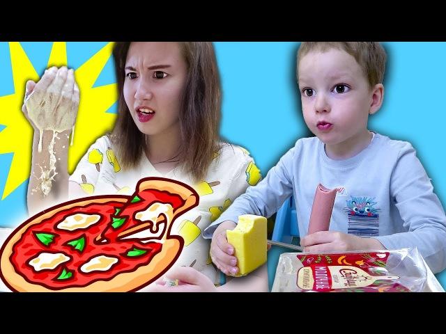 Вредные детки ГОТОВЯТ ПИЦЦУ Bad baby cooking pizza Видео для детей