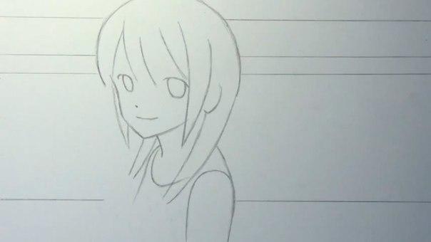 нарисованная девушка без одежды фото