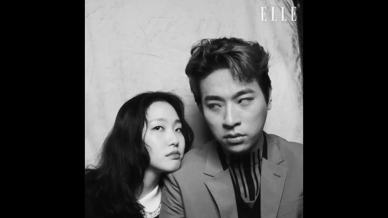 Актеры (Ким Го Ын и Пак Чон Мин) и режисер (Ли Чжун Ик) для ELLE