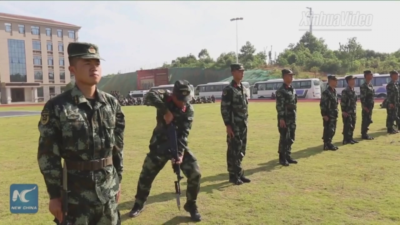 Вот как тренируется вооруженная полиция из провинции Цзянси