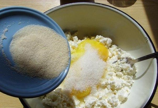 Творог манка яйцо запеканка
