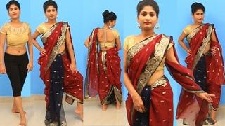 Devasena Saree Draping | Wear A Saree Like Devasena Bahubali Inspired - Latest Saree Draping Styles