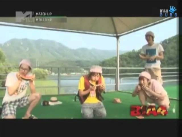 B1A4 watermelon eating competition