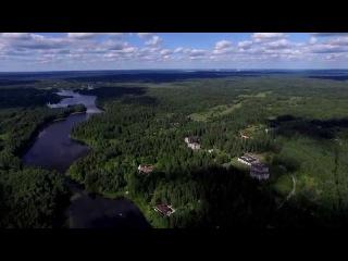 Flight over Blue Lakes. Aerial video. Аэросъемка Голубые озёра.