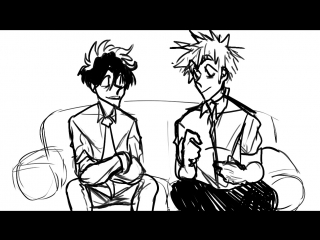 Cute moment between the Kacchan and Deku's voice actors. [short animatic]