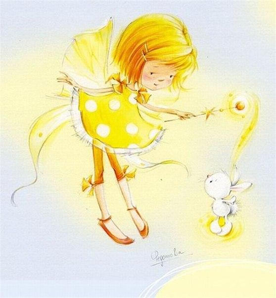 Картинки для декупажа, скрапа, коллажей. Девочки и феечки художника-иллюстратора Марины Федотовой.