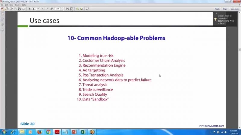 10 Common Hadoop-able Problems in Hadoop Training Video