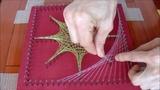 elaboracion de cuadros con hilos tensados, String Art