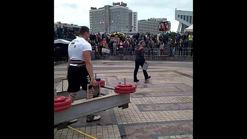 Роман Греков (Украина), колодец - 330 кг 💪 Minsk Strong Battle - 2018 💪🇧🇾