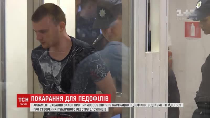 Парламент Украины принял закон о химической кастрации педофилов