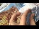 Вышивка в технике гобелен Как я вышиваю гобеленовый стежок на канве крупного аккаунта!
