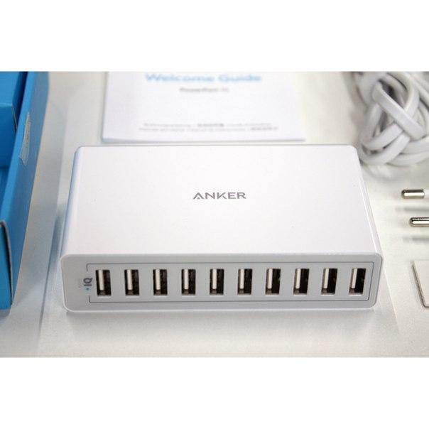 POWERPORT ANKER НА 10 USB
