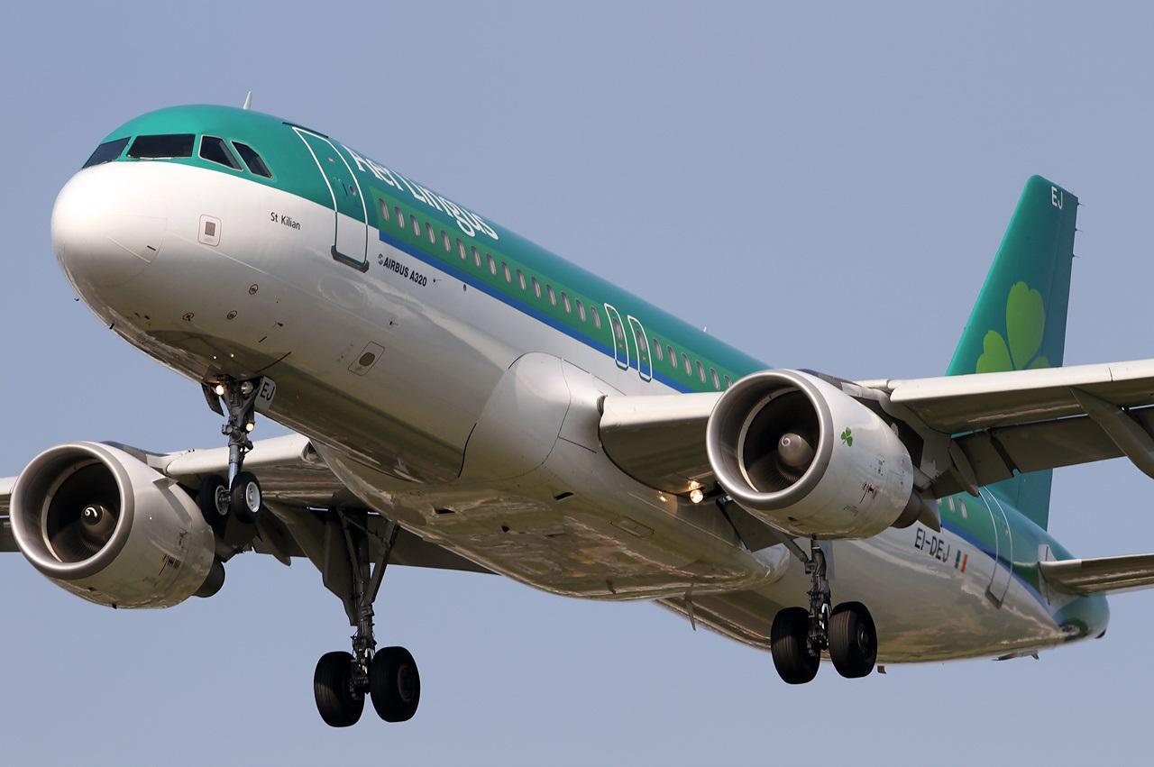 Аэробус ирландского перевозчика крупным планом