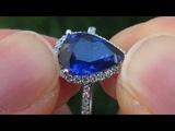 Natural Cornflower Blue Sapphire Diamond Engagement Wedding Ring 14k Gold - A141715