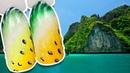 🌴 Сочный Желтый Арбуз с Объёмными Каплями 🌴 Экзотический Дизайн Ногтей Гель-лаком для Маникюра