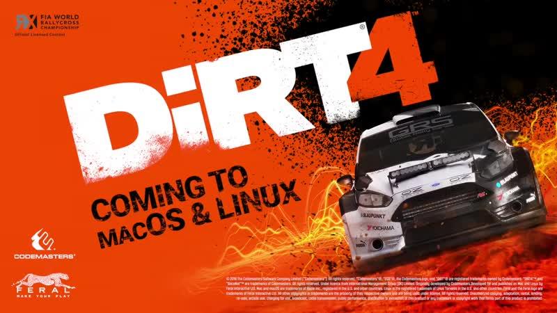 Игра DiRT 4 выйдет на macOS и Linux в 2019 году!