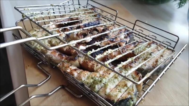 Стейки лосося семги на мангале на углях рецепт