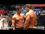 Tim Gabel vs. Jeff Seid - posing and flexing - FIBO 2014 - KARL-ESS.COM