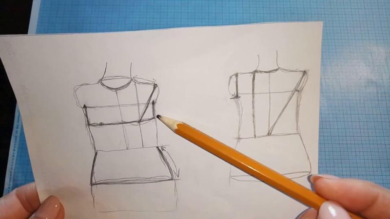 Построение базовой выкройки основы.Построение полочки и спинки
