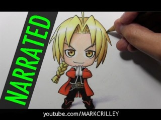 How to Draw Chibi Edward Elric (From Fullmetal Alchemist)