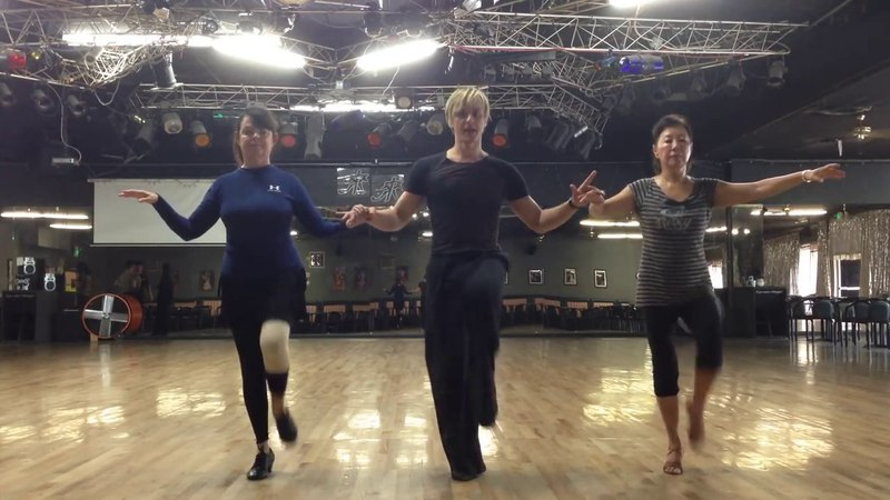 Oleg Astakhov jive technique knee action dance lesson in Los Angeles