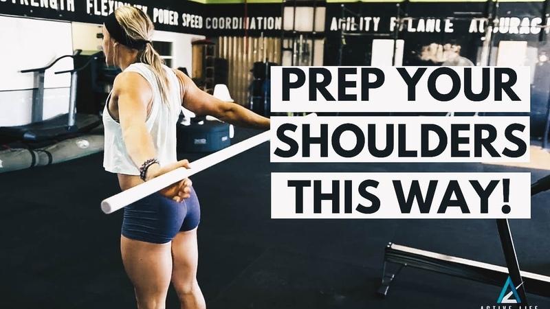 UPPER BODY WORKOUT WARMUP Shoulder Squats Performance Care 2018 PCS 20181016