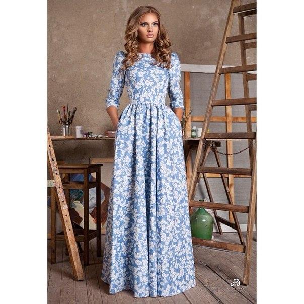 Пошив платья в пол