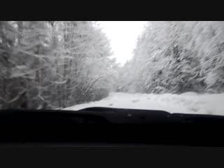 Зимняя дорога. Городокский район Витебской области. 6 января 2019 г.