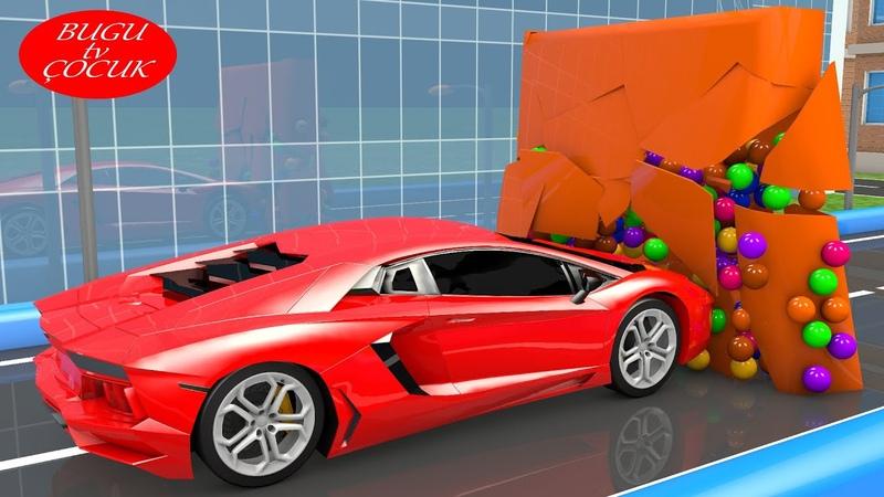 Oyuncak Araba Parkuru İle Çocuklar İçin Şekilleri Öğreniyorum
