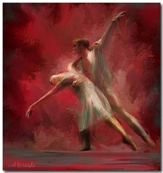 Ballet dancer artwork.