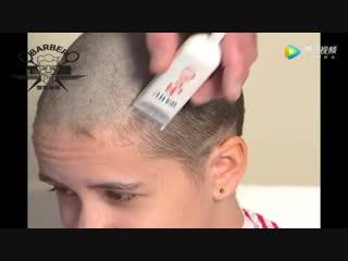 Little girl shave bald