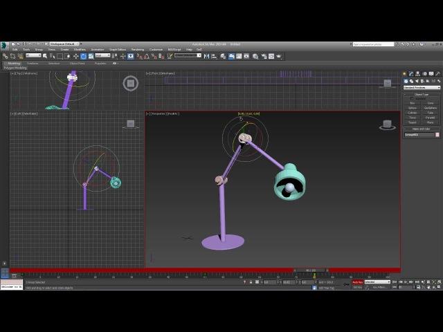 3D Max. Упражнение №29. Анимация с помощью иерархических связей.