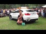 BMW erotic dance and car wash in a bikini   BMW эротический танец и мойка машин в бикини