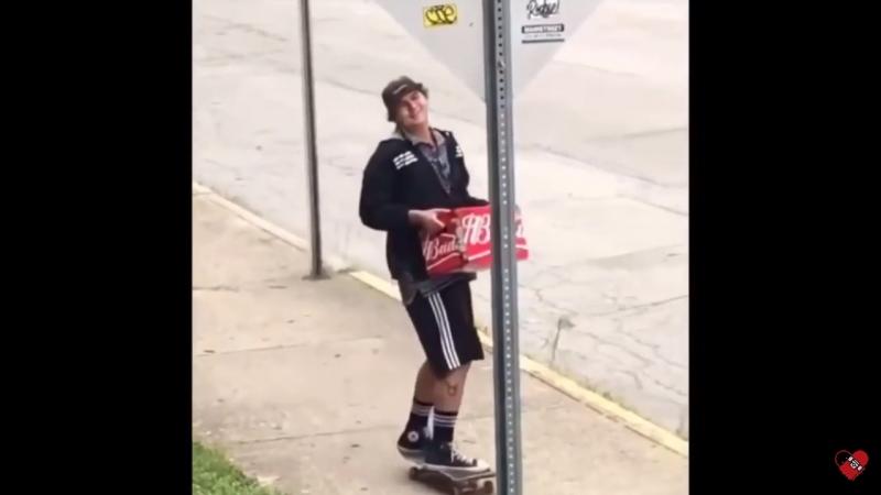 Пиво и скейтборд