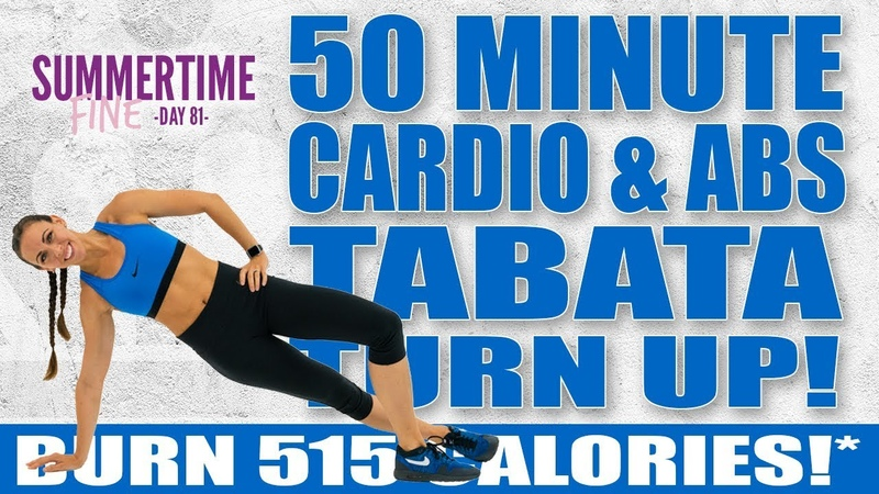 50 Minute Cardio and Abs TABATA TURN UP Workout! 🔥Burn 515 Calories!* 🔥Sydney Cummings