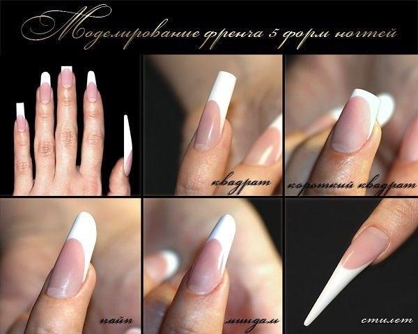 Фото с нарощенными ногтями на квадратную форму