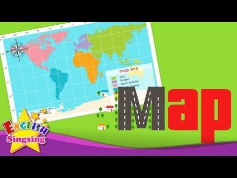 Детский Словарь - Карта - С Помощью Карты - Изучайте Английский Для Детей - Английский Образователь