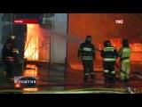 В Москве два часа тушили пожар на складе автопокрышек.     ЧП на юго-западе Москвы. На улице Вави...