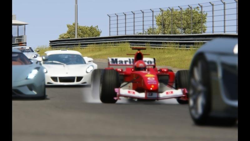 Ferrari F1 2004 Michael Schumacher vs Supercars at Zandvoort