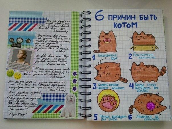 Идеи для личного дневника vk