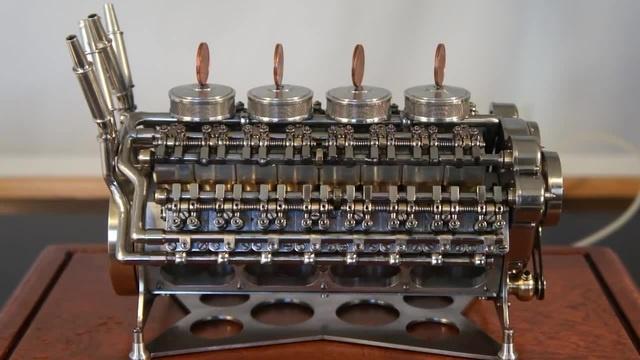 Motor W-32. Miniatura.W-32 Engine