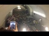 Ужасные кадры...Авария в метро Москвы. сход вагонов. 20 погибло, 160 пострадавших, 40 в тяжёлом состоянии 15.07.14