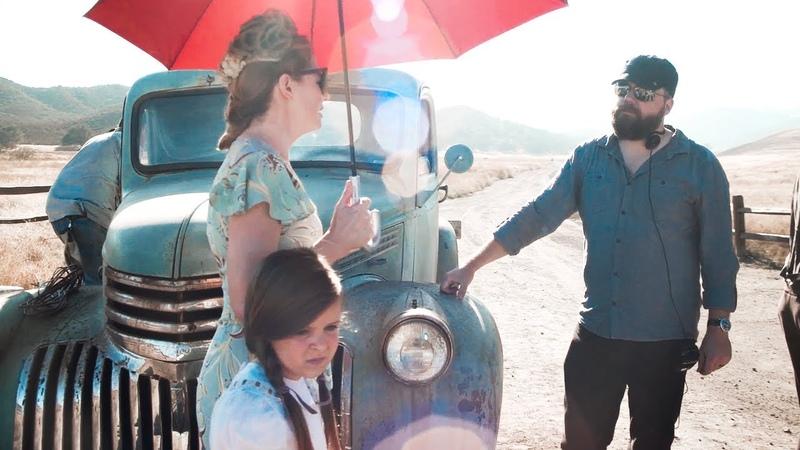 Miranda Otto on set of Annabelle Creation