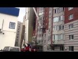 Пожар на ул. Олимпийской в Тюмени