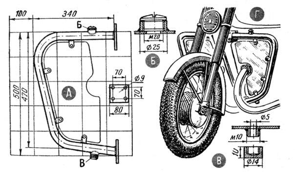 самодельные дуги, как сделать дуги на мотоцикл