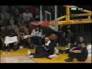 Kobe hits half court shot