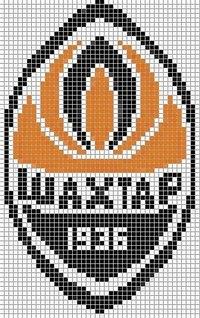 """Схема фенечки  """"ФК Таврия """".  Логотип футбольного клуба Таврия."""